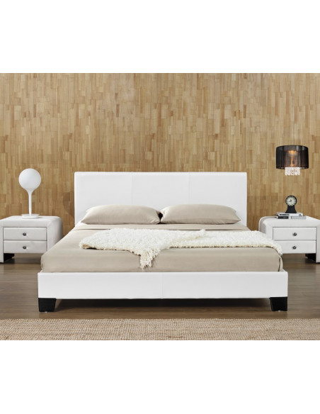 2 Lit Basic 140x190cm Blanc