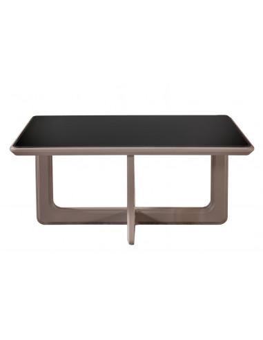 Table Basse Miroir- Beige Noir - Florya-