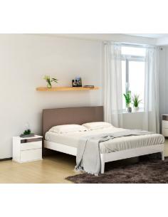 Lit blanc - doré 160x200cm