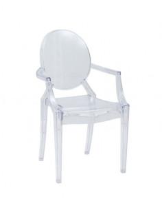 1 Lot de 4 chaises Transparente Selena Luxury Design