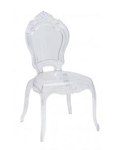 1  Lot de 4 chaises royales Crown Transparent