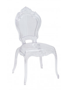 1  Lot de 4 chaises royales Crown Transparent