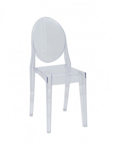 1 Lot de 4 chaises Transparente Selena Luxury Design copie