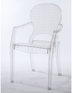 1 Lot de 4 Fauteuil ?l?gant transparent Paladium