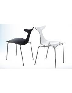 1 Chaise design avec pieds m?tal