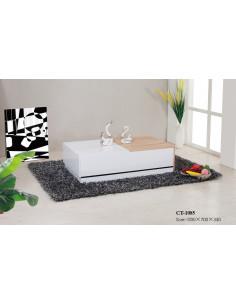 1 Table basse design blanc laqué