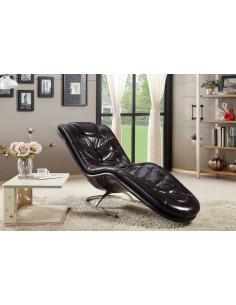 1 Fauteuil design noir Morgane en Cuir