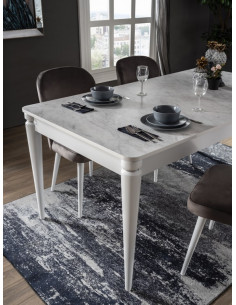 1 table a manger DECO blanche + 6 chaises