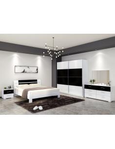 1 Chambre ? coucher PALINE- noir blanc