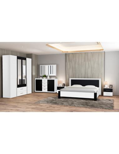 1 Chambre ? coucher - GRAVITY-blanc- noir
