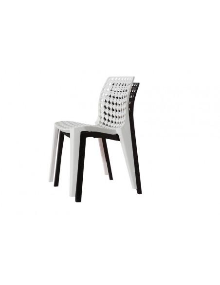 1 Chaise en polypropyl?ne empilable salle ? manger bar caf?