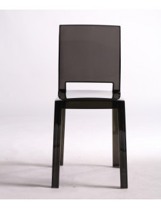 2 Chaise salle ? manger bar CRISTAL LIGHT polycarbonate