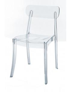 1 Chaise salle ? manger bar transparent CRISTAL LIGHT polycarbonate