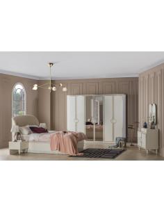 1 Chambre ? coucher Mod?le Deco Couleur Blanc / or