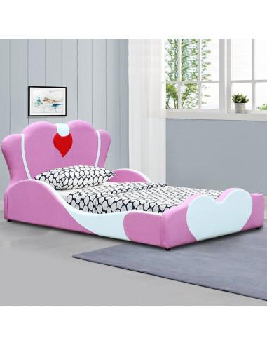 1 Lit Fille Principessa - 90x190 cm - rose