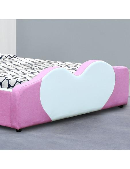 3 Lit Fille Principessa - 90x190 cm - rose