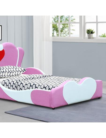 4 Lit Fille Principessa - 90x190 cm - rose
