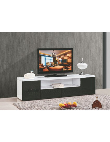 1 Meuble TV ARTABAN - MDF laqué blanc